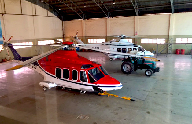 Helicopter services in Oil & Gas